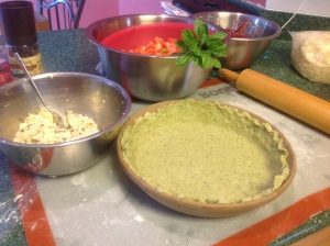 Tomato Basil Pie