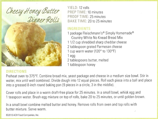 Cheesy Honey Butter Dinner Rolls