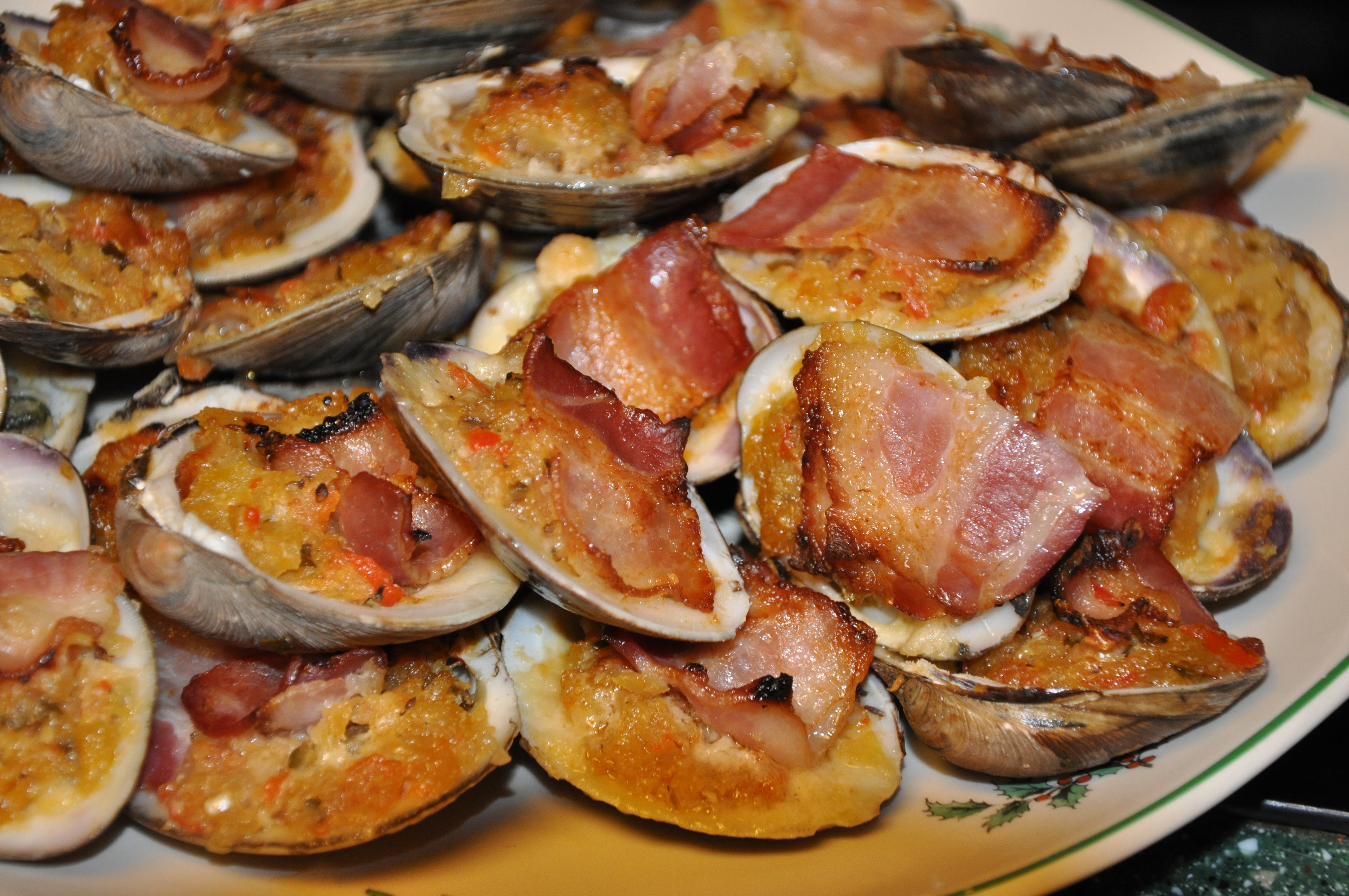 Shells for clams casino 12