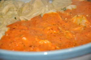 Spinach Ravioli with Tomato Vodka Sauce