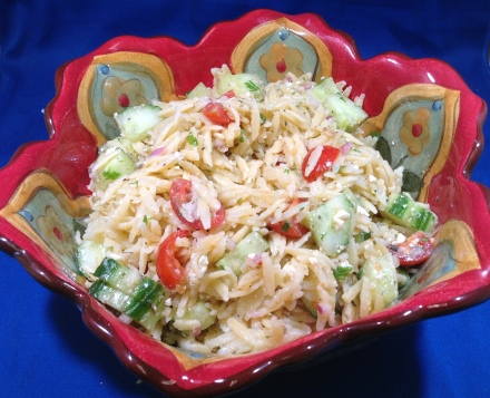 Orzo Pasta Salad with Weber® Just Add Juice® Citrus Herb Marinade