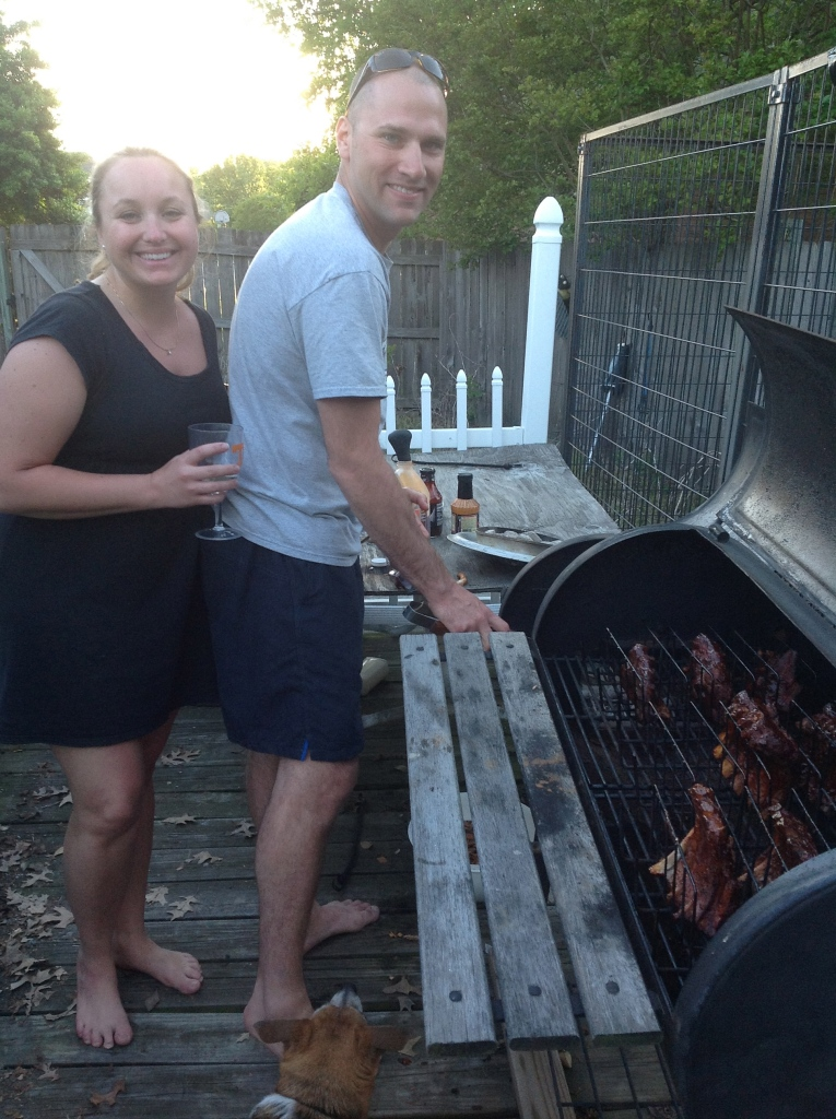Rob & Cecile smoking ribs