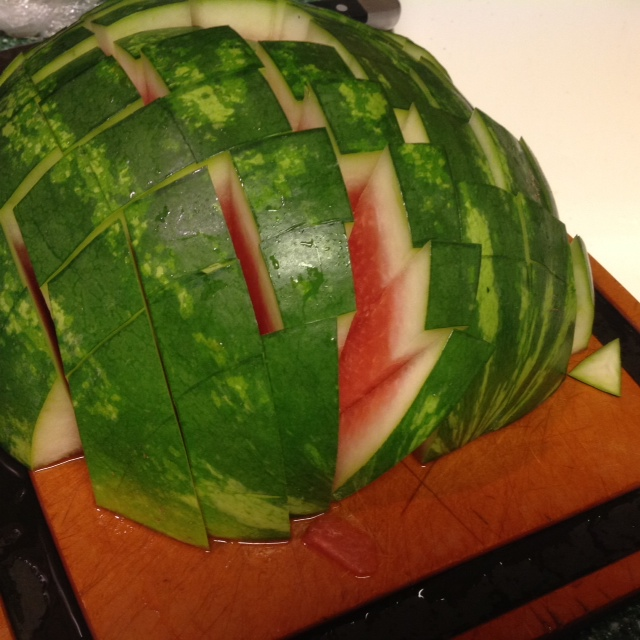 how to best cut a watermelon