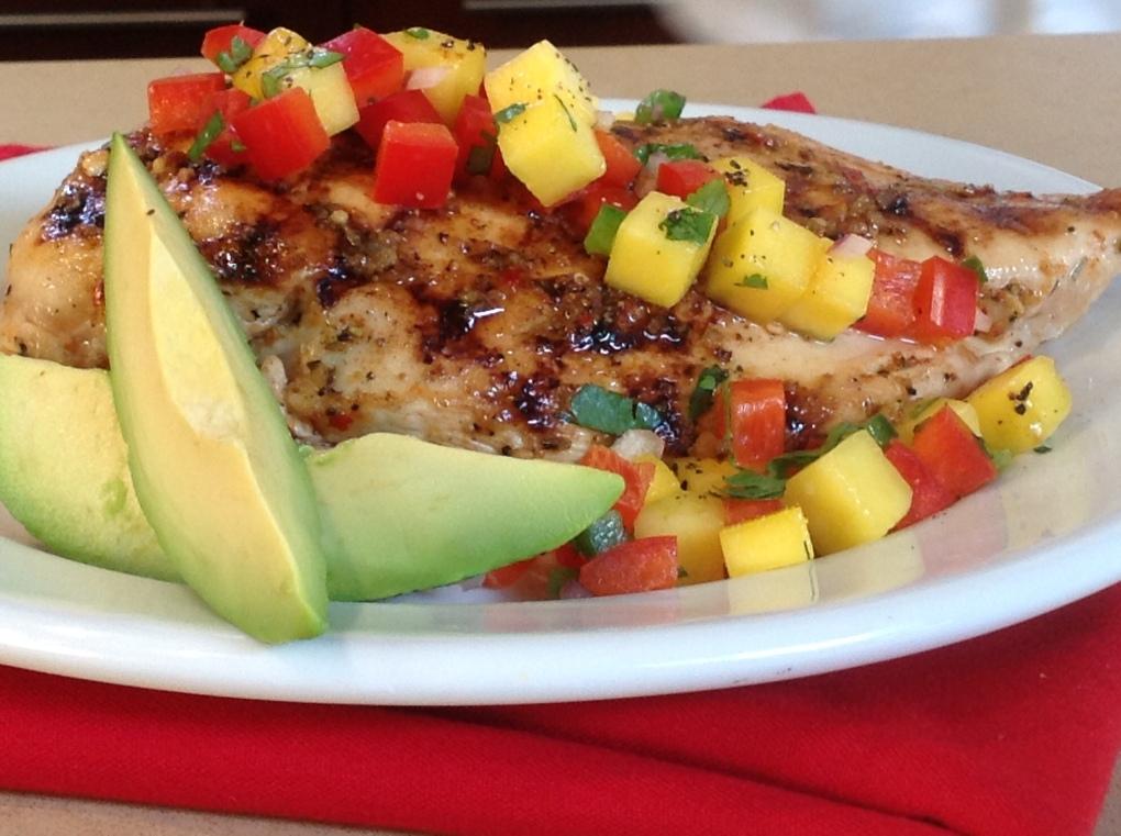 Kickin' Chicken with Mango Salsa