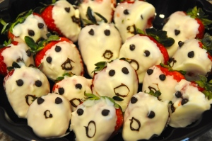 White Chocolate Covered Strawberry Ghoulish Ghosts