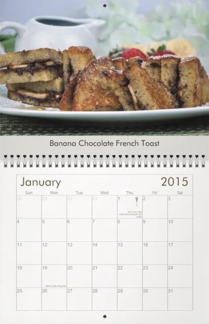 Galena's Cucina 2015 Calendar